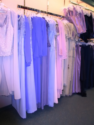 Check stock availability from special occasion clothing stores